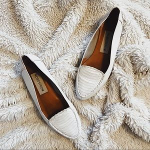 Nordstrom white loafers
